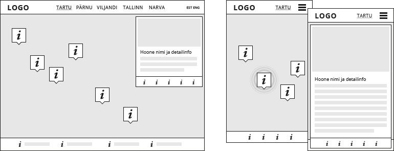 Case study: Tartu Ülikooli kaartide veebikeskkond - wireframed